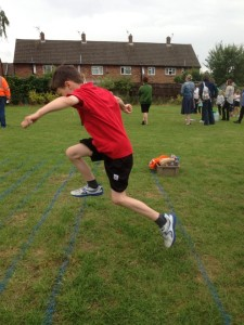 My boy trying his hardest on Sports Day