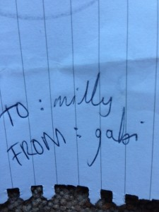 Milly and Gabi, I do hope you are now friends