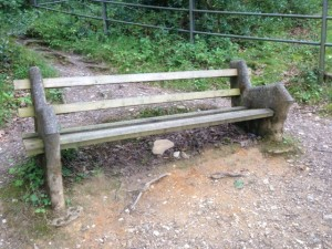 One of the benches I came across today