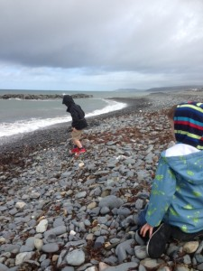 Blustery Borth this morning