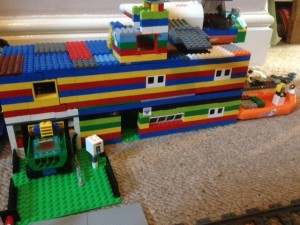 The home-made Lego Simpsons house