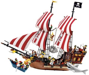 The imaginary Lego pirate ship