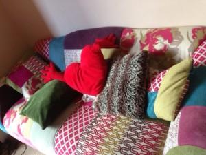 Messy cushions