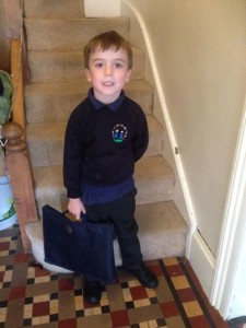 My youngest about to go to school for the first time
