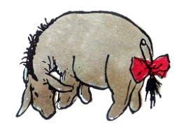 The original Eeyore - that lovable, grey pesimist