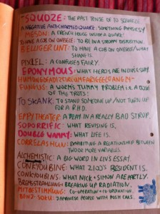 Too much time on our hands (perhas the time we'd spent on twitter now) - hand-written silliness from 1993