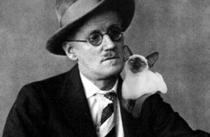 James Joyce and his cat
