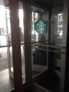One of the many revolving doors