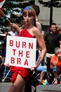 The bra-burning era