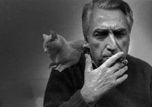 Roland Barthes and his cat
