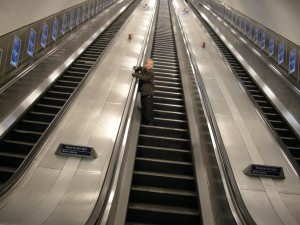 Escalator up to heaven or down to hell?