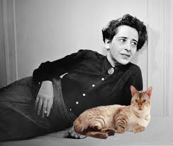 Hannah Arendt with her cat